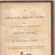 Image of The American Poultry Book; Being a Practical Treatise on the Management of Domestic Poultry. - Book