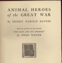 Image of Animal Heroes of the Great War. - Book