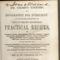 Image of Dr. Chases's Recipes; or, Information for Everybody: An Invaluable Collection of About Eight Hundred Practical Recipes. - Book