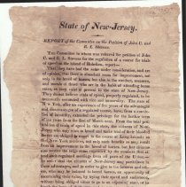 Image of State of New Jersey. Report of the Committee on the Petition of John C. Stevens and R.L. Stevens, no date, circa 1822 or 1826. - Documents