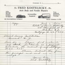 Image of 1952 letter