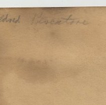 Image of detail of name on reverse