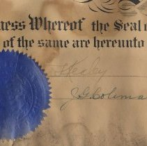 Image of detail left seal, signatures