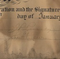 Image of detail right signatures