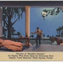 "Image of Postcard: Diorama of ""Beautiful Dreamer"" On Display Way Down Upon the Suwanee River, Stephen Foster Memorial, White Springs, Fla. N.d., ca. 1949+. - Postcard"