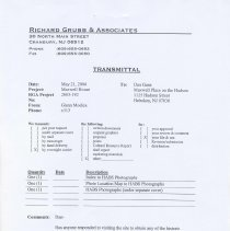 Image of Maxwell House HABS Level III Photographs - Documents