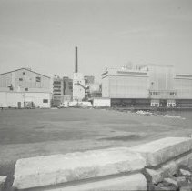 Image of Digital image of B+W photo of former Maxwell House Coffee plant exterior, overview from east, Hoboken, 2003. - Print, Photographic