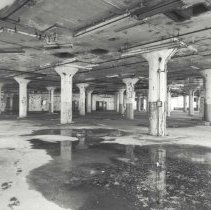Image of Digital image of B+W photo of former Maxwell House Coffee plant interior, Manufacturing Building, 4th floor, Hoboken, 2003. - Print, Photographic