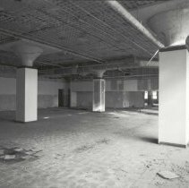 Image of Digital image of B+W photo of former Maxwell House Coffee plant interior, Manufacturing Building, 5th Floor, Hoboken, 2003. - Print, Photographic
