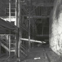Image of Digital image of B+W photo of former Maxwell House Coffee plant interior, Extraction Building, basement, Hoboken, 2003. - Print, Photographic