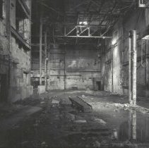 Image of Digital image of B+W photo of former Maxwell House Coffee plant interior, Power House, basement, Hoboken, 2003. - Print, Photographic