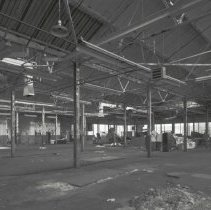 Image of Digital image of B+W photo of former Maxwell House Coffee plant interior, Can Factory, 4th Floor, Hoboken, 2003. - Print, Photographic