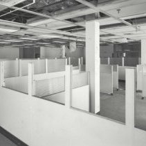 Image of Digital image of B+W photo of former Maxwell House Coffee plant interior, Offices & Laboratory, 1st floor, Hoboken, 2003. - Print, Photographic