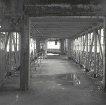 Image of Digital image of B+W photo of former Maxwell House Coffee plant interior, Soluble Building, 3rd floor, Hoboken, 2003. - Print, Photographic