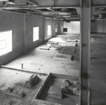 Image of Digital image of B+W photo of former Maxwell House Coffee plant interior, Process Building, 1st floor, Hoboken, 2003. - Print, Photographic