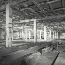 Image of Digital image of B+W photo of former Maxwell House Coffee plant interior, Process Building, basement, Hoboken, 2003. - Print, Photographic