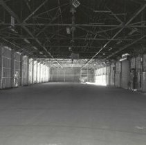 Image of Digital image of B+W photo of former Maxwell House Coffee plant interior, Pier Shed, Hoboken, 2003. - Print, Photographic