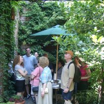 Image of Digital color image of the gardens and people on the Secret Gardens Tour, Hoboken Historical Museum, Hoboken, June 9, 2002. - Print, Photographic