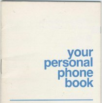 Image of Telephone book, personal, imprinted New Jersey Bell, no date, ca. 1970-1985. - Booklet