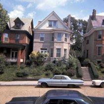Image of Color slide of the exterior of 907 Castle Point Terrace, Hoboken, August, 1972. - Transparency, Slide