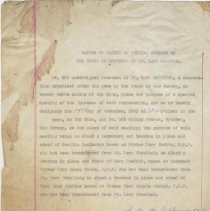 Image of Waiver of notice of special meeting of the Board of Trustees of St. Mary Hospital, November 14, 1962. Typewritten carbon, signed. - Letter