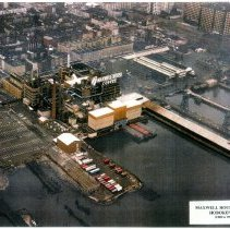 Image of Color aerial photo of Maxwell House Coffee plant, Hoboken, no date, ca. 1960. - Print, Photographic