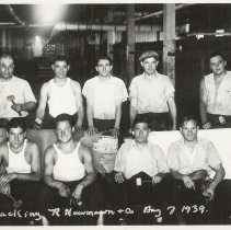 Image of B+W photo of R. Neumann & Co. tacking department, Hoboken, August 7, 1939. - Print, Photographic