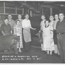 Image of B+W photo of R. Neumann & Co. graining and measuring department, Hoboken, December 12, 1950. - Print, Photographic