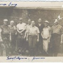 Image of B+W photo of R. Neumann & Co. color house gang, Hoboken, no date, ca. 1940-50. - Print, Photographic