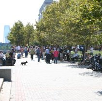 Image of Digital color image of the 2004 Hoboken Pet Parade, along the Hoboken Waterfront, Sunday, September 26, 2004. - Print, Photographic
