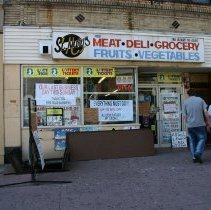 Image of Four digital color images St. Mary's Meat & Deli Market, 402 Washington Street, last day of business, Hoboken, September 26, 2004. - Print, Photographic