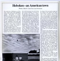 Image of Article: Hoboken - an American town. 8-page article with 14 photos by John Conn. In Hasselblad 63, June 1980. - Periodical