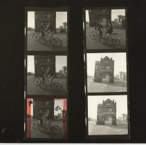 Image of B+W negative contact sheet of images of Hoboken taken by John Conn. no date, [1976]. - Print, Photographic