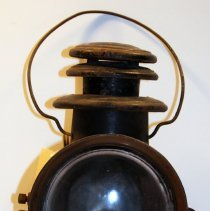 Image of Carriage lamp, Champion Steel Lamp, kerosene or oil, ca. 1907-1920. - Lamp, Carriage