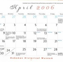 Image of April 2006 calendar