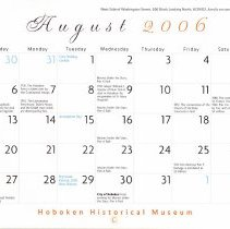 Image of August 2006 calendar