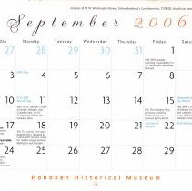 Image of September 2006 calendar