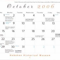Image of October 2006 calendar