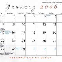 Image of Jan 2006 calendar