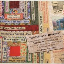 Image of Postcard: Memories in Needle & Thread. Quilts by Peggy McGeary. HHM exhibit, May-July, 2005. - Postcard