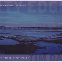 Image of Postcard: City Edge: The Hudson County Landscapes of Tim Daly. Exhibition preview invitation, HHM, Aug. 19, 2001. - Postcard