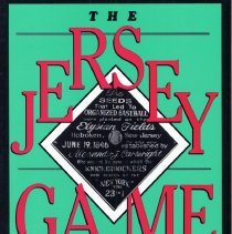 Image of The Jersey Game. The History of Modern Baseball from its Birth to the Big Leagues in the Garden State. - Book