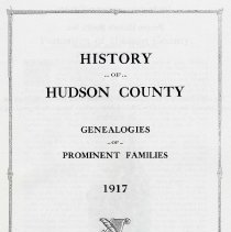 Image of History of Hudson County. Genealogies of Prominent Families.1917. - Book