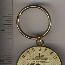 Image of Commemorative medal with keychain: Hoboken 150 Years 1855-Sesquicentennial-2005. Issued 2005. - Medal, Commemorative