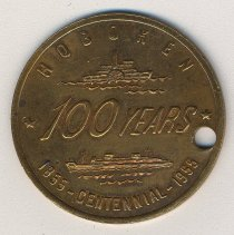 Image of Commemorative medal for the Centennial of the City of Hoboken, Hoboken, 1955. - Medal, Commemorative