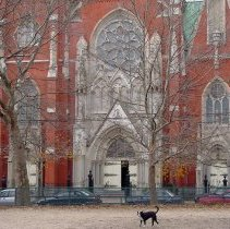 Image of Digital image of Our Lady of Grace Church from Church Square Park, Hoboken, Dec. 28, 2003. - Print, Photographic
