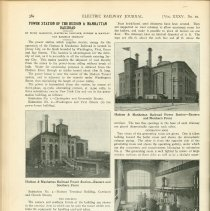 """Image of Digital images: article """"Power Station of the Hudson & Manhattan Railroad."""" by Hugh Hazelton. Electric Railway Journal, Vol. XXXV, No. 10, March 5, 1910. - Magazine"""