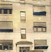 Image of Digital image of sepia-tone photo of the exterior of 1210 Hudson Street with an automobile, Hoboken, 1923. - Print, Photographic