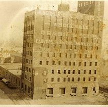 Image of Digital image of sepia-tone photo of the Nungesser-Dickinson Seed Company building, 1203-1209 Hudson Street, Hoboken, [1923]. - Print, Photographic