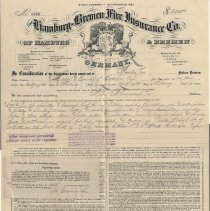 Image of Digital image, document: Insurance policy for Hoboken School No. 4, 1896. - Policy, Insurance